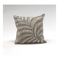 Wildwood Lamps Decorum by Mary Taylor Hand Embroidered Ash Brown Dupioni Platinum Fireworks - Feather/Down Filling 294704