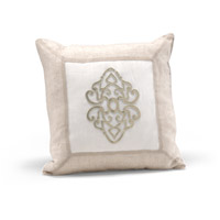 Decorum By Mary Taylor 20 inch Beige And Ivory Pillow