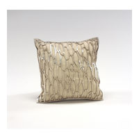 Wildwood Lamps Decorum by Mary Taylor Lurix Linen With Hairon Laser Cut Platinum Cowhide - Feather/Down Filling 294711