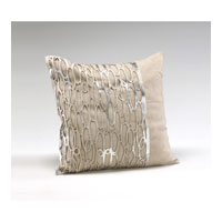 Wildwood Lamps Decorum by Mary Taylor Lurix Linen With Hairon Laser Cut Platinum Cowhide - Feather/Down Filling 294712