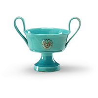 Wildwood Lamps Italia Tripoli Bowl Decorative Accessory in Turquoise Glaze 295177