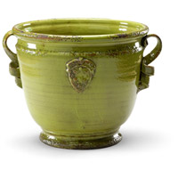 Wildwood Lamps Italia Rustica Planter Decorative Accessory in Antique Green Glaze 295179