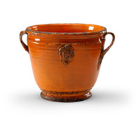 Wildwood Lamps Italia Rustica Planter Decorative Accessory in Antique Persimmon Glaze 295182 photo thumbnail