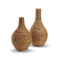 Wildwood Lamps Tommy Bahama Bulging Jars (Set of 2) Decor Accessory in Hand Woven Natural Materials 295345