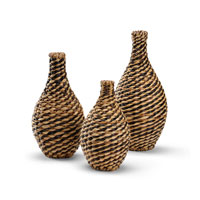 Wildwood Lamps Tommy Bahama Vases (Set of 3) Vase in Hand Woven Natural Materials 295346