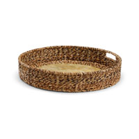 Wildwood Lamps Tommy Bahama Capiz Shell Tray Centerpiece in Hand Woven Natural Materials 295347