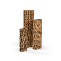 Wildwood Lamps Tommy Bahama Slim Oval (Set of 3) Vase in Hand Woven Natural Materials 295451