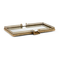 Balustrade Brass and Mirror Tray
