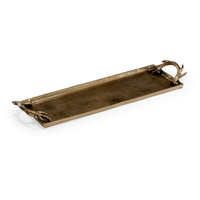 Diana Cast Aluminum Tray, Rectangular