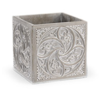 Signet White Washed Concrete Cachepot