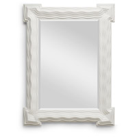 Looking Glass 40 X 31 inch Matte White and Mirror Mirror Home Decor