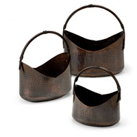 Wildwood 297052 High Country Hand Hammered Brass Planters