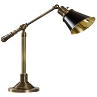 Counterweight 19 inch 60 watt Antique Brass Table Lamp Portable Light