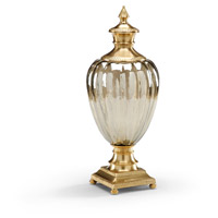 Wildwood Lamps Miscellaneous Trophy Vase Ribbed Crystal Decorative Accessory in Antiqued Brass 300501