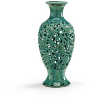 Wildwood Lamps Miscellaneous Pierced Vase Antiqued Glaze Decorative Accessory in Porcelain 300505