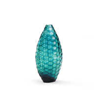 Wildwood Lamps Discovery Art Glass Vase in Blue Hues 300534