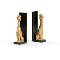 Wildwood 300782 Wildwood 3 inch Gold Leaf Bookends, Set of 2 photo thumbnail