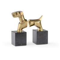 WM 6 inch Antique Brass Bookends, Set of 2