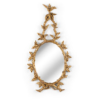 WM 44 X 23 inch Antique Gold Leaf Mirror Home Decor