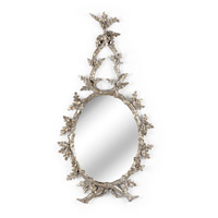 WM 44 X 23 inch Antique Silver Leaf Mirror Home Decor