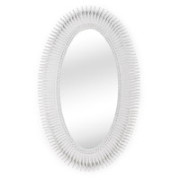 WM 46 X 28 inch Matte White Mirror Home Decor
