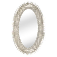 WM 46 X 28 inch Antique Silver Leaf Wall Mirror