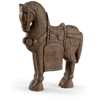 Dynasty Hand Carved Wood Horse Sculpture, Large