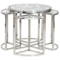 Bunching 24 inch Polished Nickel Cocktail Table Home Decor