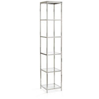 Langdon Polished Nickel and Clear Shelf Unit