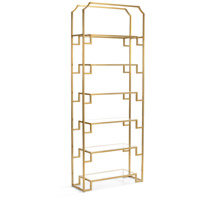 Hampton 92 X 36 inch Antique Brass Shelf Unit