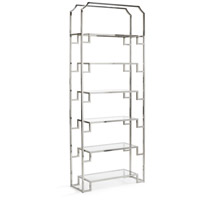 Hampton Polished Nickel Shelf Unit