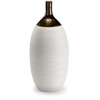 Bilanco Potters Burnt Gold and White Glaze Potters Vase