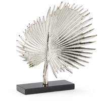 Fan Palm Silver and Natural Black Sculpture