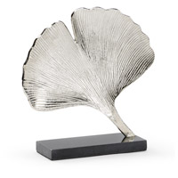 Ginkgo Silver and Natural Black Sculpture