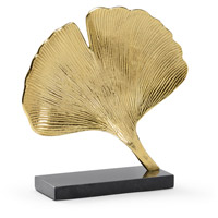 Ginkgo Gold and Natural Black Sculpture