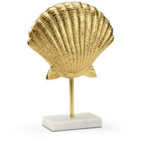 Scallop Gold and Natural White Décor