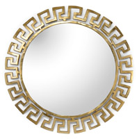 Athena 40 X 40 inch Gold Plated Mirror Home Decor, Large