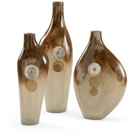Wildwood Lamps 301162 Neka Rust Ombre and Gold Vases Set of 3