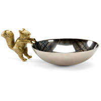 Squirrel Nickel and Brass Bowl