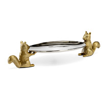 Wildwood Lamps 301176 Squirrel 27 inch Nickel and Brass Platter