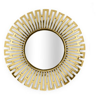 Clio 40 X 40 inch Polished Brass and Mirror Wall Mirror