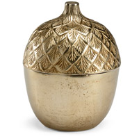 Autumn Acorn Antique Brass Caddy Bottle