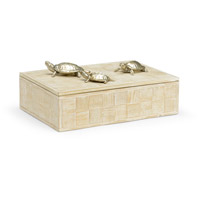 Wildwood Lamps 301293 Tortoise Family 14 inch White Wash and Silver Plated Box