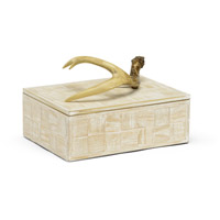 Wildwood Lamps 301294 Antler 10 inch Limed Oak and Brown Box, Small