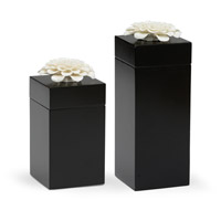 Zinna Black and White Boxes, Set of 2
