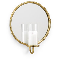 Portal Candle 16 inch Antique Brass and Mirror Sconce Wall Light
