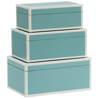 Wildwood Lamps 301327 Lexie 12 inch Spa and White Lacquer Boxes, Set of 3