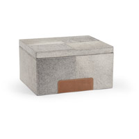 Wildwood Lamps 301479 Hair On Hide 15 inch Grey and Tan Box, Large