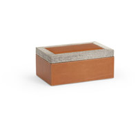 Wildwood Lamps 301480 Leather 11 inch Tan and Grey Box, Small