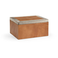 Wildwood Lamps 301482 Leather 15 inch Tan and Grey Box, Large